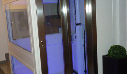 Instalación de ascensor con foso reducido en Gerona