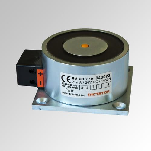 Electroimán de retención con caja de bornes