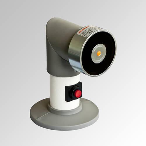 Electroimán de retención con cabeza giratoria