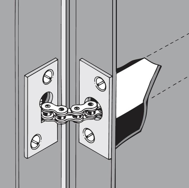 Muelle para puerta batiente
