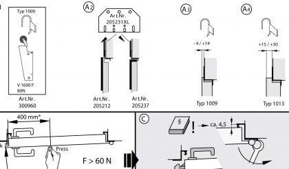 Amortiguador para puertas cortafuego V 1600 F