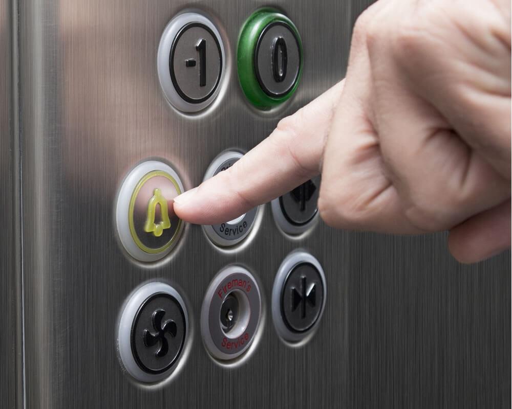 panel seguridad del ascensor